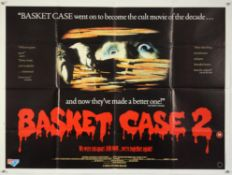 Basket Case 2 (1990) British Quad film poster, folded, 30 x 40 inches.