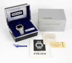 James Bond - Hamilton Pulsar P2 Time Computer LED digital stainless steel gentleman's bracelet