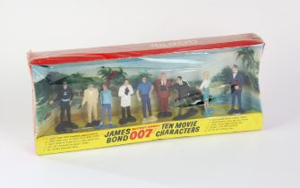 James Bond 007 - Gilbert Ten Movie Characters box set from 1965, in shrink wrap, 40 x 16 x 6 cm.