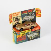James Bond Corgi 261 Diecast James Bond's Aston Martin DB5, with secret instructions pack,