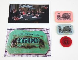 James Bond Dr. No (1962) Three Le Cercle casino plaques as similar to that seen in Terence Young's