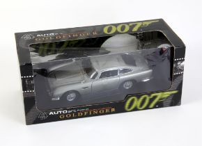 James Bond 007 - Autoart 1:18 scale Aston Martin DB5, modelled on the vehicle in the film