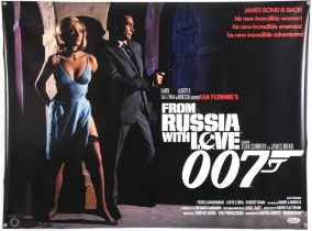 James Bond From Russia with Love (2020) Commercial British Quad film poster, rolled, 30 x 40 inches.