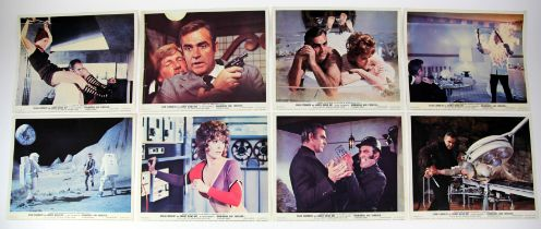 James Bond Diamonds Are Forever (1971) Set of 8 Front of House cards, 10 x 8 inches (8).