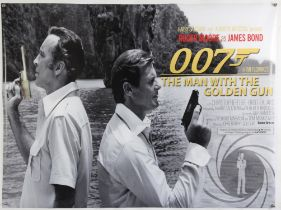 James Bond The Man with the Golden Gun (2020) Commercial British Quad film poster, rolled,