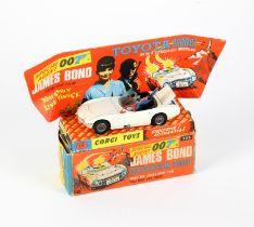 James Bond Corgi 336 Diecast James Bond's Toyota 2000GT, with James Bond and 'Aki',