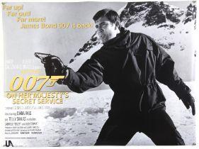 James Bond On Her Majesty's Secret Service (2020) Commercial British Quad film poster, rolled,