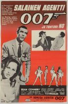 James Bond Dr No (1962) Finnish film poster, 15 x 23 1/2 inches.
