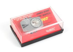 James Bond - Gilbert Spy Watch with secret sighting lenses and world time guard, red,