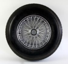 Aston Martin DB5 wire wheel and tyre with Avon Radial tyre similar to as seen in the James Bond