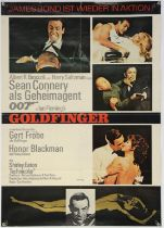 James Bond Goldfinger (1964) German A1 film poster, folded, 23.5 x 33 inches.