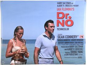 James Bond Dr. No (2020) Commercial British Quad film poster, rolled, 30 x 40 inches.