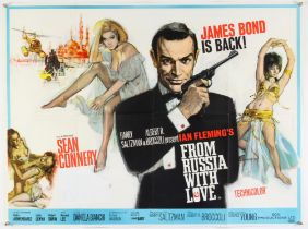 James Bond From Russia With Love (1963) British Quad film poster, Art by Renato Fratini,