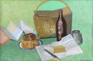 Michael Hutchings (British, 1918 - 2020), 'Al Fresco', still life of picnic items (1997).