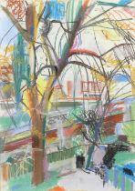 Michael Hutchings (British, 1918-2020), 'By Richmond Bridge'. Pastel. Labels verso. 70 x 52cm.