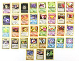 Pokemon TCG. Pokemon Team Rocket. 35 card bundle including 16 commons, 14 uncommons and 5 rares.