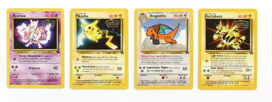Pokemon TCG. Mewtwo, Dragonite, Pikachu & Electubuzz card bundle. Black Star Promos 2, 3, 4 & 5 (4)