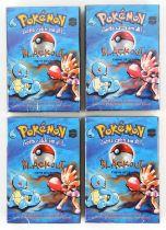 Pokemon TCG Four Base Set Blackout Theme Decks, sealed in original packaging (4).