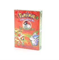 Pokemon TCG Base Set Brushfire Theme Deck, sealed in original packaging. The vendor formerly owned