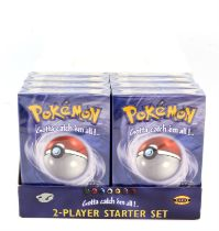 Pokemon TCG Base Set Two Player Starter Decks opened in display / brick. Contains Eight Two Player