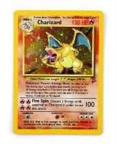 Pokemon TCG. Charizard holo card. Base Set 2