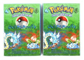 Pokemon TCG Two Base Set Overgrowth Theme Decks, sealed in original packaging (2).