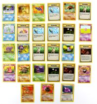 Pokemon TCG. Pokemon Fossil 27 card bundle. Including 15 commons, 10 uncommons and 2 rares.