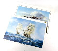 Anthony Hedges (twentieth century), large quantity of over 30 World War II fighter plane prints,