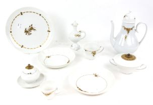 Rosenthal part dinner service, to include vegetable dishes and covers, plates, oil, bottle,
