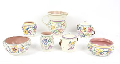 Collection of Poole and other pottery including two jars and covers - one Country Lane, a large jug,