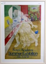 Three framed Royal Academy Summer Exhibition posters, 1975, 1978 (210th Exhibition) and 1995.