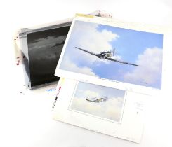Anthony Hedges (twentieth century), set of loose prints and plates, mainly depicting planes.