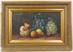 T. Wilian (19th century). Still Life of Fruit. Gouache on paper. Signed lower right.