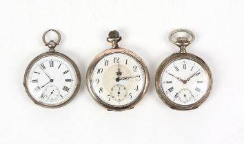 JW Benson, to HRH The Prince of Wales 58 & 60 Ludgate Hill London, Argent pocket watch and two 800