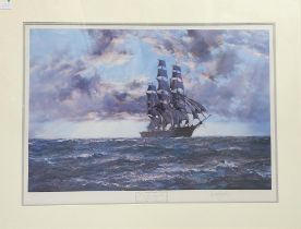 Montague Dawson (1895-1973), 'The tall Ship - Clipper Kaisow', print, signed in pencil to lower