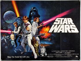 Star Wars (1977) British Quad film poster, Pre Academy Awards, Style C, directed by George Lucas,