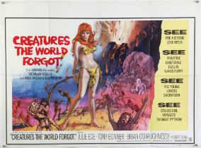 Creatures the World Forgot (1971) British Quad film poster for this double bill feature,