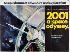 2001: A Space Odyssey (1968) British Quad film poster, artwork by Robert McCall, folded,