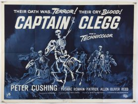 Captain Clegg (1962) British Quad film poster, starring Peter Cushing, Hammer - Major Production,