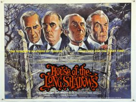 House of The Long Shadows (1983) British Quad film poster, starring Peter Cushing,