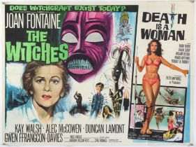 The Witches / Death Is a Woman - British Quad film poster, Hammer Horror, folded, 30 x 40 inches.