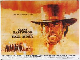 Pale Rider (1985) British Quad film poster for the Clint Eastwood western with poster illustration