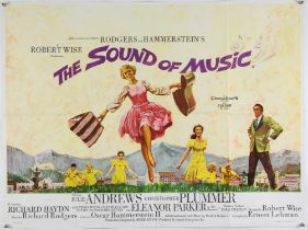 The Sound of Music (1965) British Quad film poster, starring Julie Andrews, folded, 30 x 40 inches.