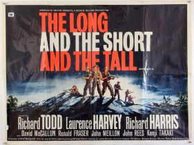 The Long and the Short and the Tall (1960) British Quad film poster, War starring Richard Todd,