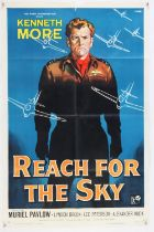 Reach For The Sky (1956) US One Sheet film poster, starring Kenneth More, artwork by Giuliano