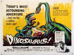 Dinosaurus (1960) British Quad film poster, folded, 30 x 40 inches.