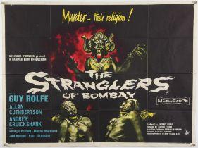 The Stranglers of Bombay (1959) British Quad film poster, Hammer Films Production,