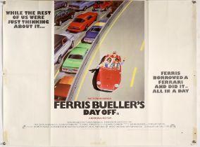 Ferris Bueller's Day Off (1986) British Quad film poster