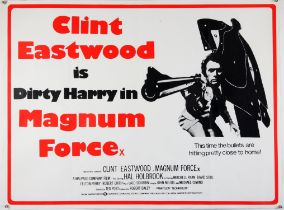 Magnum Force (1973) British Quad film poster, starring Clint Eastwood, folded, 30 x 40 inches.