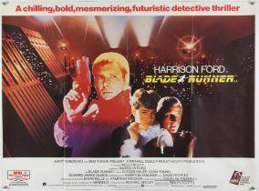 Blade Runner (1982) British Quad film poster, artwork by John Alvin, Sci-fi starring Harrison Ford